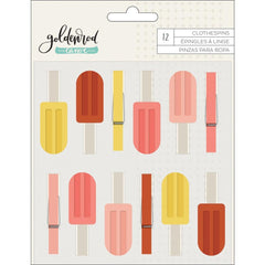 1canoe2 - Goldenrod Clothespins 12 pack
