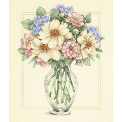 Dimensions Counted Cross Stitch Kit 12inch X14inch Flowers In Tall Vase (14 Count)