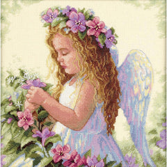 Dimensions Counted Cross Stitch Kit 11inch X11inch Passion Flower Angel (14 Count)