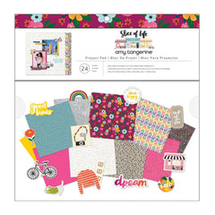 American Crafts Amy Tan, Slice of Life Project Pad 12in x 12in 24 Sheets - 308 Pieces