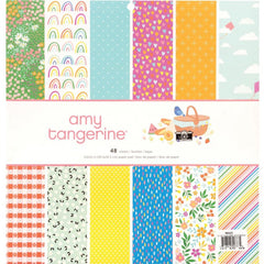 American Crafts Single-Sided Paper Pad 12in x 12in 48 pack  - Amy Tan Picnic In The Park