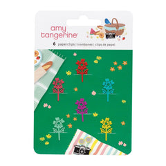 American Crafts Amy Tan Picnic In The Park - Paper Clips 5 pack