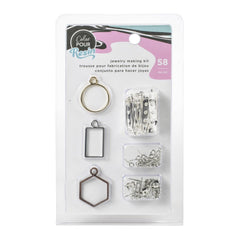 American Crafts Colour Pour Resin Jewellery Kit 58 pack