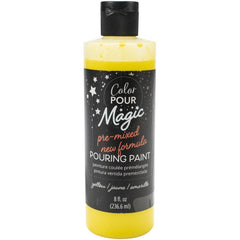American Crafts Color Pour Magic Pre-Mixed Paint 8oz - Citrine