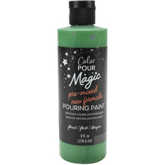 American Crafts Color Pour Magic Pre-Mixed Paint 8oz - Forest