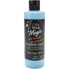 American Crafts Color Pour Magic Pre-Mixed Paint 8oz - Topaz
