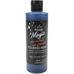 American Crafts Color Pour Magic Pre-Mixed Paint 8oz - Navy