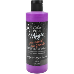 American Crafts Color Pour Magic Pre-Mixed Paint 8oz - Amethyst