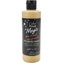 American Crafts Color Pour Magic Pre-Mixed Paint 8oz - Metallic Gold