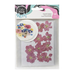 American Crafts Colour Pour Resin Mix-Ins 56 pack - Dried Pressed Flowers