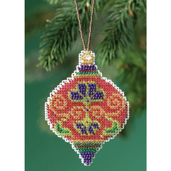 "Mill Hill Counted Cross Stitch Ornament Kit 2.5""X3.5"" Crimson Cloisonne (14 Count)"