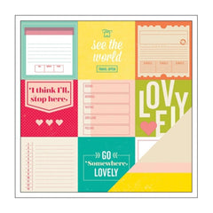 American Crafts - Shimelle Collection - 12 x 12 Double Sided Paper - Curie