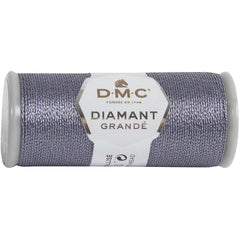 DMC Diamant Grande Metallic Thread 21.8yd - Anthracite Grey