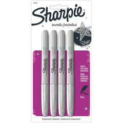 Sharpie Metallic Fine Point Permanent Markers 4 pack - Silver