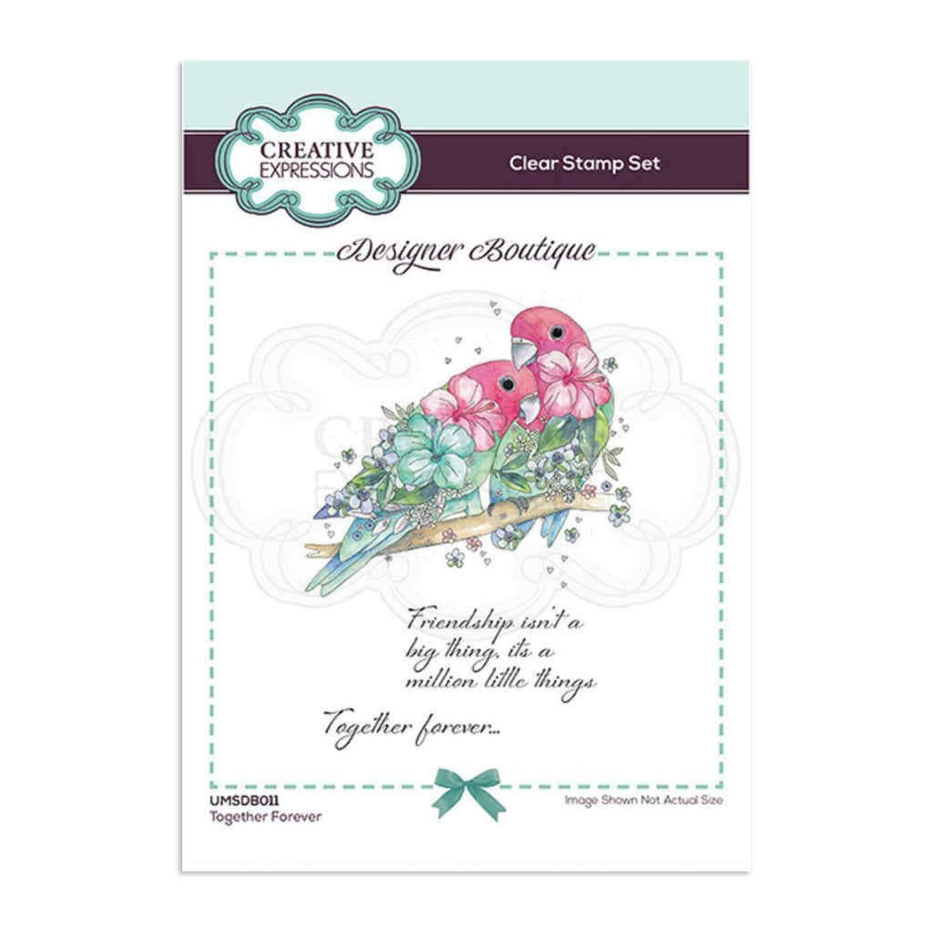 Creative Expressions Designer Boutique Collection Stamp Set A6 - Together Forever