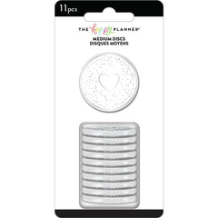 Me & My Big Ideas - Happy Planner Medium Discs 1.25in  11 pack - Silver Glitter