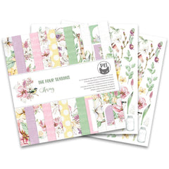 P13 Double-Sided Paper Pad 12in x 12in  12 pack - The Four Seasons-Spring, 6 Designs/2 Ea