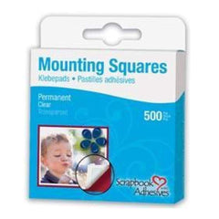 Scrapbook Adhesives Mounting Squares Transparent - 500 Pack - Clear