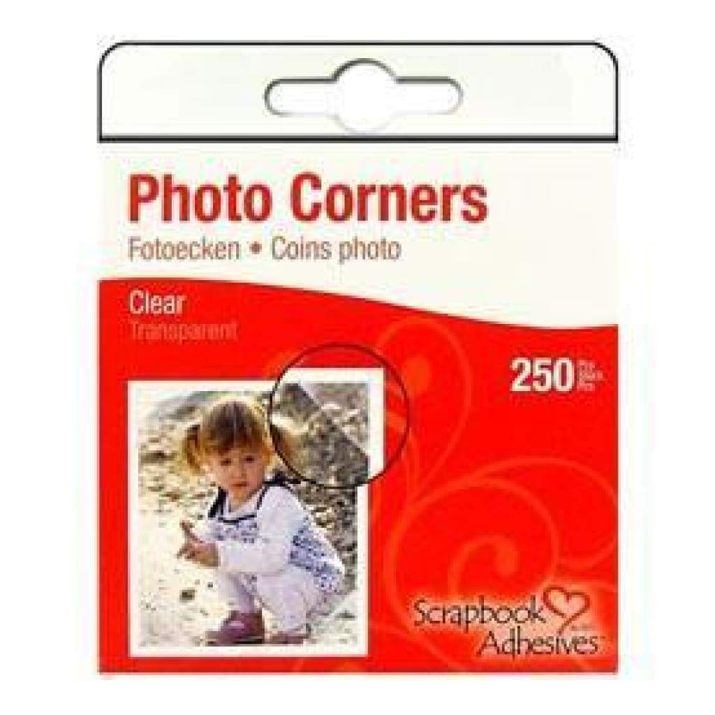Scrapbook Adhesives Photo Corners Pp Clear - 250 Pack - Clear