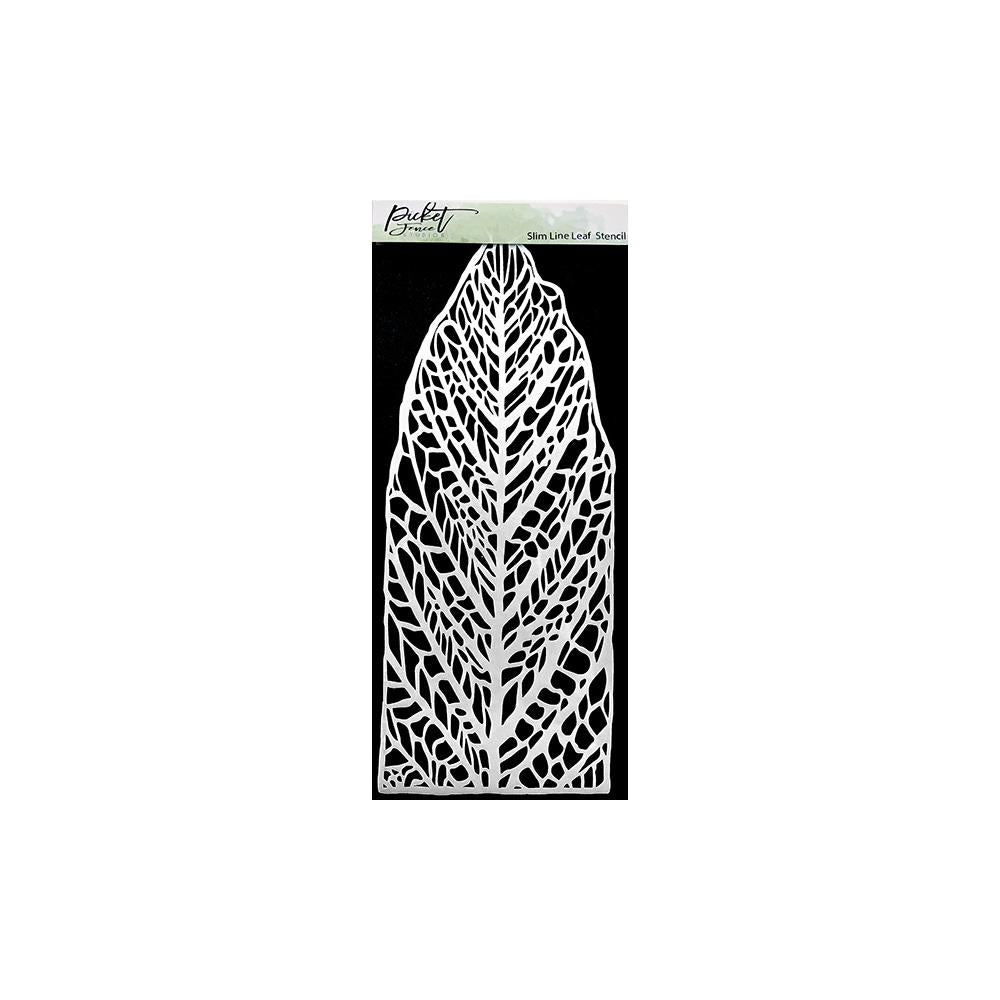 Picket Fence Studios Stencil 4in x 8in - Slim Line Leaf