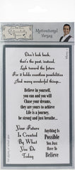 Phill Martin Stamps - Motivational Verses Clear Stamp Set