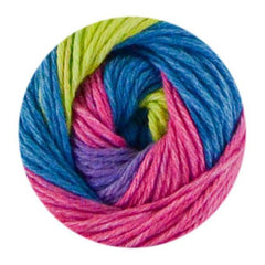 Premier Yarns Home Cotton Yarn - Multi - Rainbow Stripe - 60g