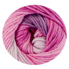 Premier Yarns Home Cotton Yarn - Multi - Pink Stripe - 60g