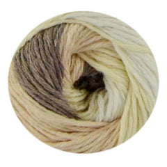 Premier Yarns Home Cotton Yarn - Multi - Cream Stripe - 60g