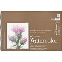 Strathmore Watercolour Paper Pad 12in x 18in  140lb, Cold Press, 12 Sheets