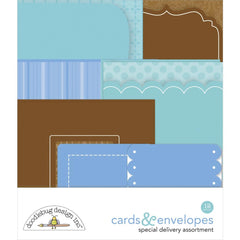Doodlebug Cards & Envelopes 12 pack - Special Delivery, 6 Cards/6 Envelopes