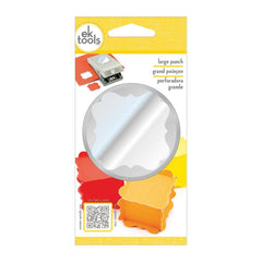 EK Success-Paper Shapers Large Punch - Flourish Square, 1.75