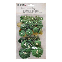 49 and Market Botanical Potpourri Flowers 49 pack - Bottle Green