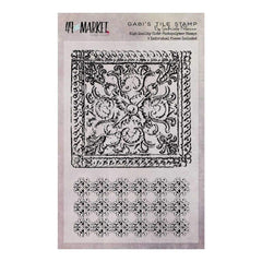 49 and Market Clear Stamps 4in x 6in Gabis Tile
