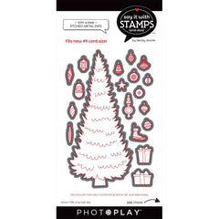 PhotoPlay Say It With Stamps Die Set - #9 Trim A Tree