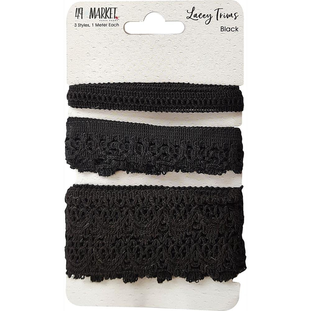 49 and Market Lacey Trims - Black