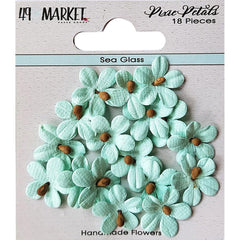 49 and Market Pixie Petals 18 pack - Sea Glass