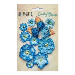 49 and Market Flower Embellishments - Country Blooms - Cobalt