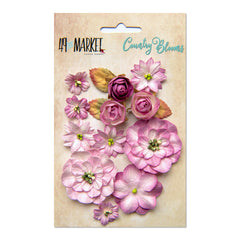 49 and Market Flower Embellishments - Country Blooms - Punch
