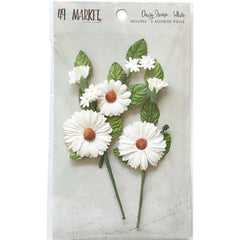 49 and Market Daisy Stems 3 pack - White