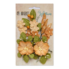 49 and Market Flower Embellishments - Wildflowers - Ginger