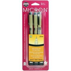 Pigma Micron Pens .25mm 3 pack - Black