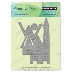 Penny Black Creative Dies - Winter Church 3.1 inchX4.5 inch