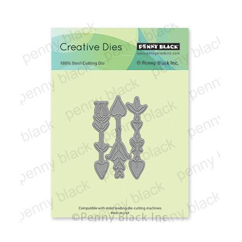 Penny Black Creative Dies - Doodles Of Love 1.9in x 2.9in