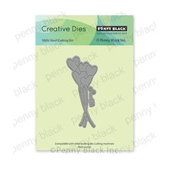 Penny Black Creative Dies - Love Balloons 1.5in x 3.5in