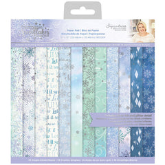 Crafter's Companion Single-Sided Cardstock 12in x 12in  36 pack - Glittering Snowflakes