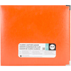 We R Memory Keepers Classic Leather 3-Ring Album 12in x 12in - Orange Soda