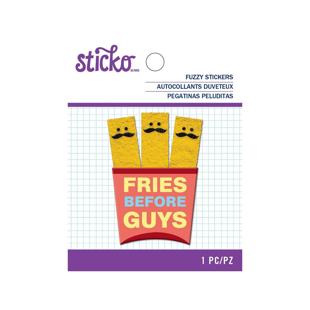 American Crafts - Sticko - Fuzzy Stickers - Mustache Fries