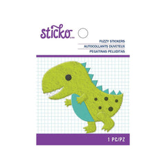 American Crafts - Sticko - Fuzzy Stickers - Dino