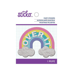 American Crafts - Sticko - Fuzzy Stickers - Over It