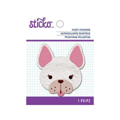 American Crafts - Sticko - Fuzzy Stickers - Frenchie
